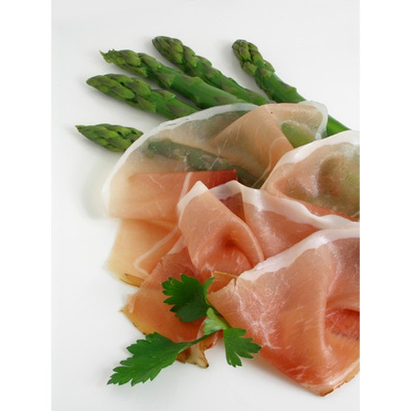 Ideally, prosciutto slices should be extremely thin.