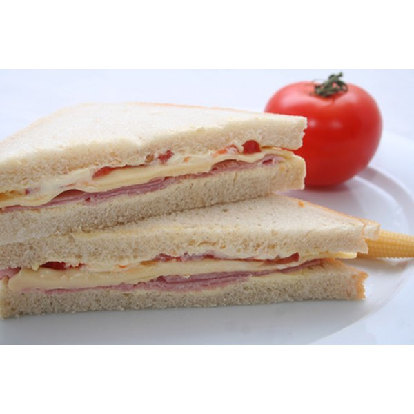 Jazz up a plain sandwich with a decorative touch.
