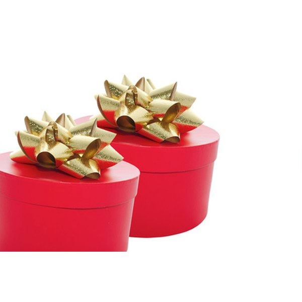 Gifts wrapped in red and gold paper are considered especially lucky.