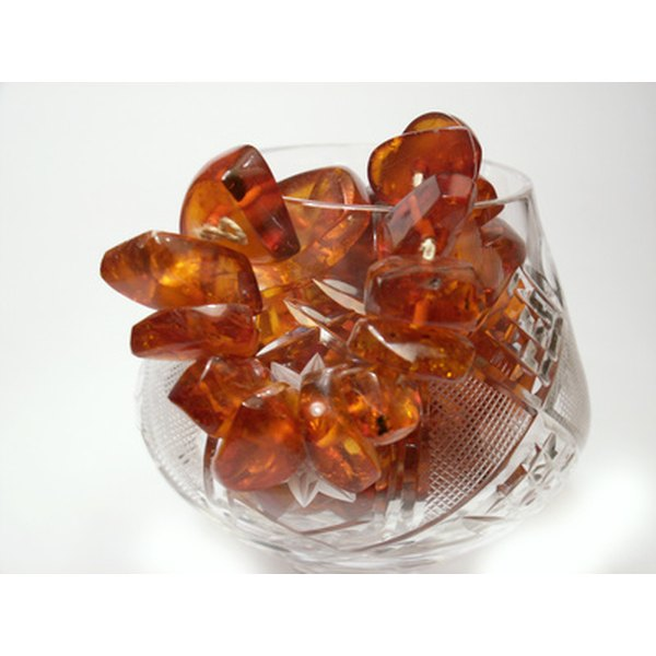 Cognac amber appears darker than the more usual honey-colored amber.
