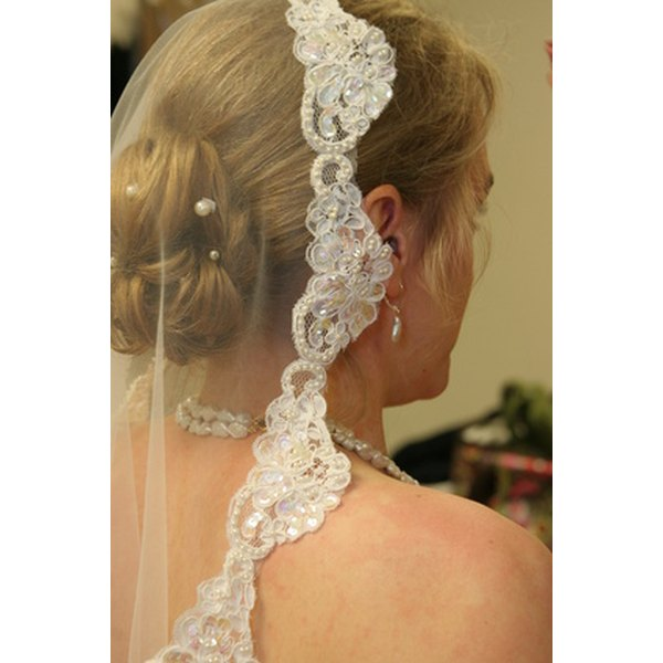 Use a traditional chapel veil to honor your wedding day