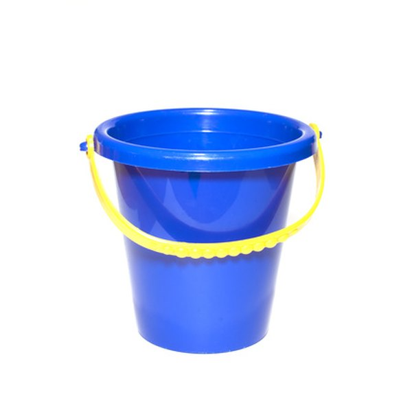Decorate a bucket instead of the traditional basket.