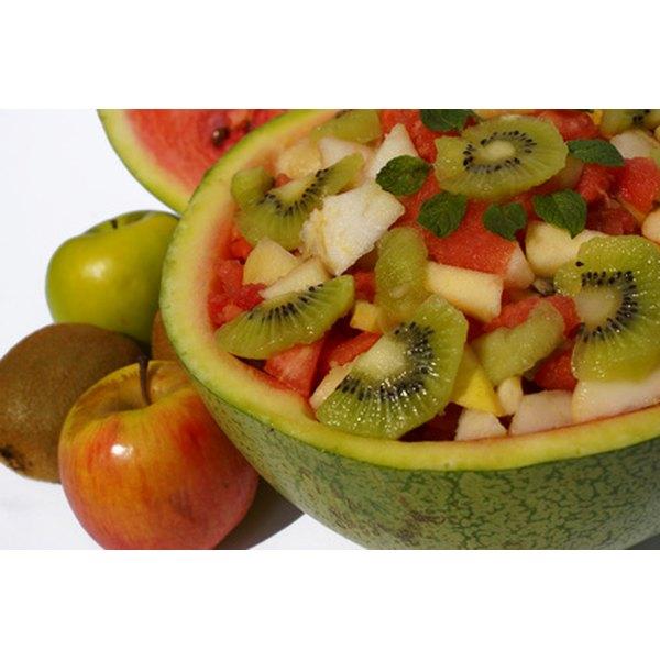 Fruit is a good source of fiber.