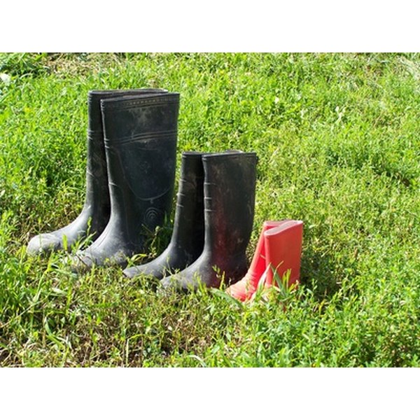 Rubber boots are practical to wear but difficult to recycle.