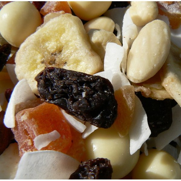 Soaking dried fruit softens it for use in dessert fillings.