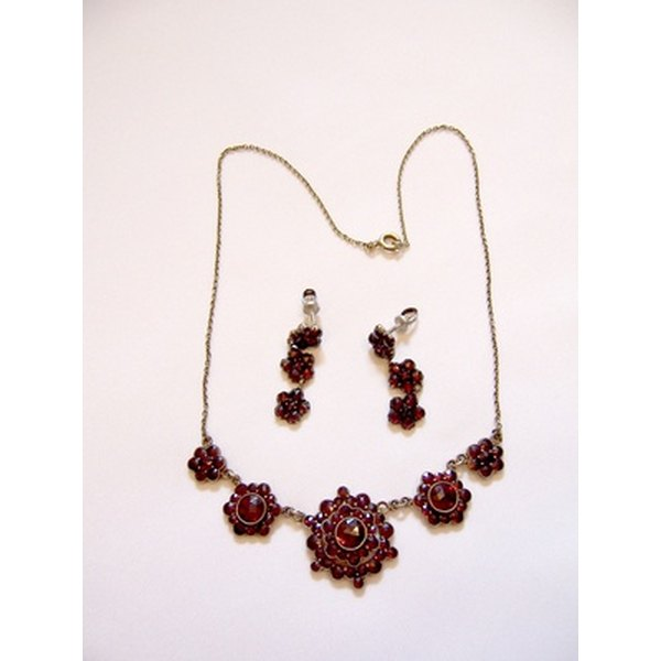 Garnet is a semiprecious stone, and can be used in jewelry.