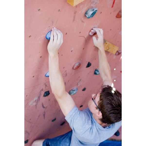 Challenge the groom to some indoor rock climbing.