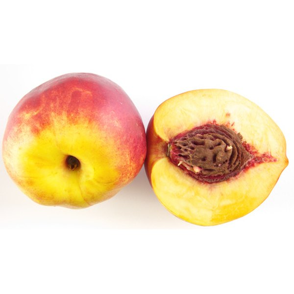 Peaches are a good snack whether fresh or dried.