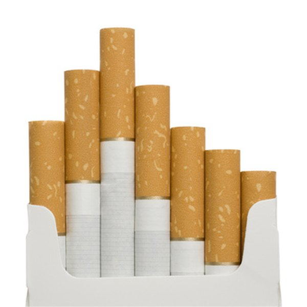 Cigarettes contain nicotine, which can be removed.