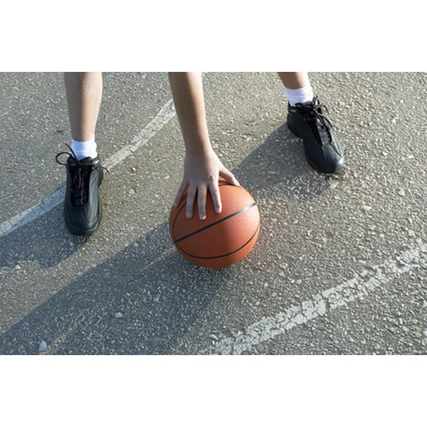 Basketball shoes are made with a variety of materials.
