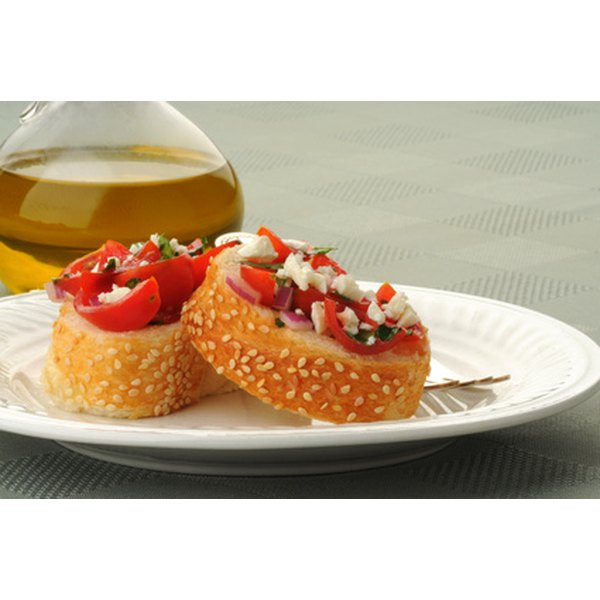 Vary hot and cold appetizers for easier serving.