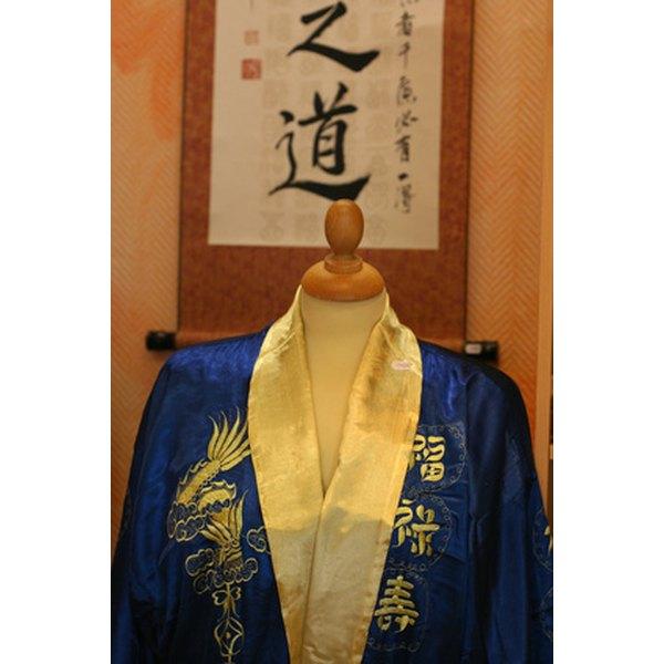 A traditional Japanese kimono
