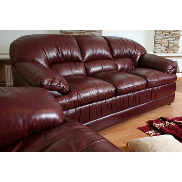 Cigarette burns in leather furniture can often be repaired at home.