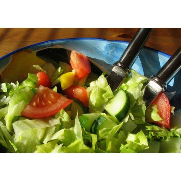 Enjoy a salad at a restaurant on Denver's South Colorado Boulevard.