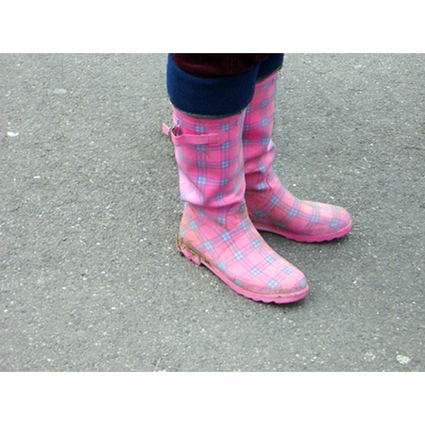 Rubber boots protect your feet from water.
