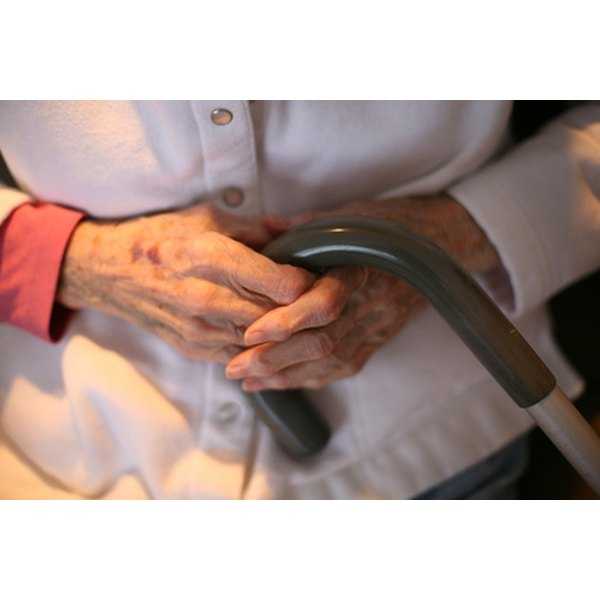 You will need to use a cane or crutches following a knee replacement.
