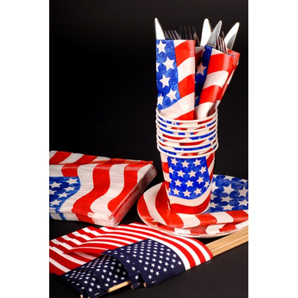 Star shaped napkins are great for Fourth of July celebrations.