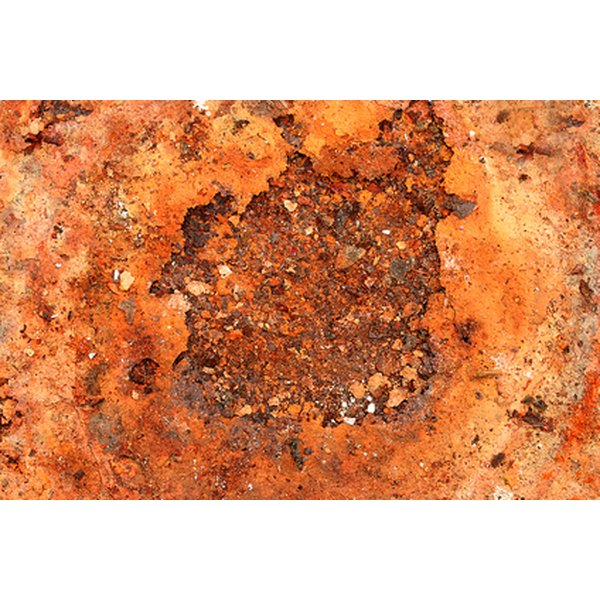 Rust contains oxalic acid, which is toxic and causes rust to eat through anything, including fabric.