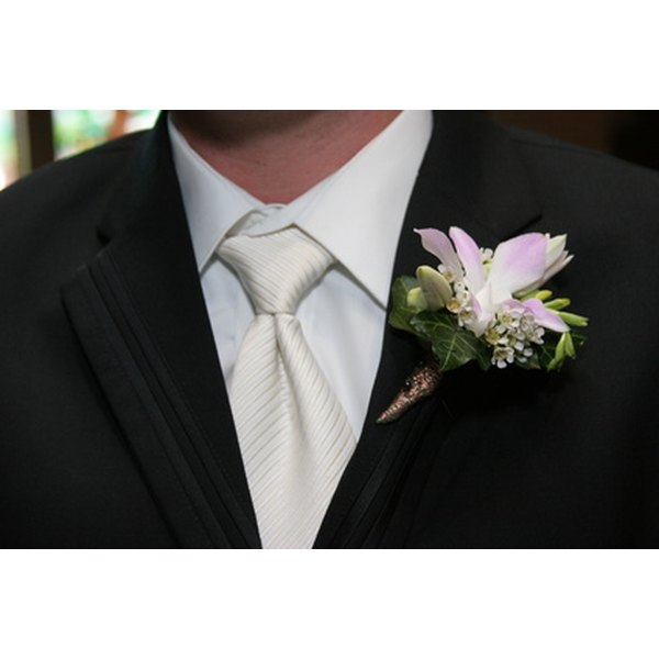 A boutonniere is a symbol of masculine elegance.