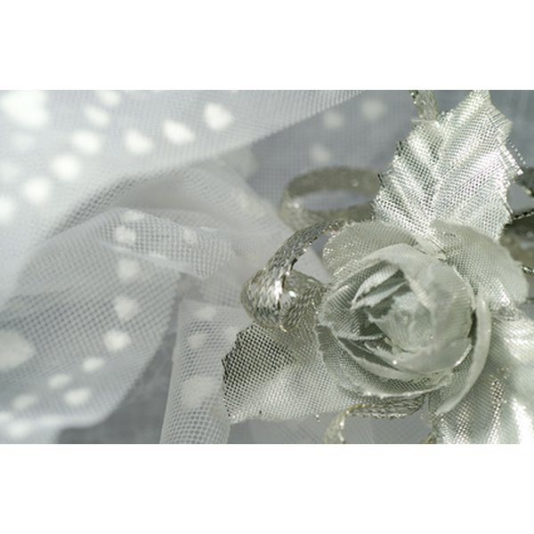 Wedding veils are commonly made with tulle netting.