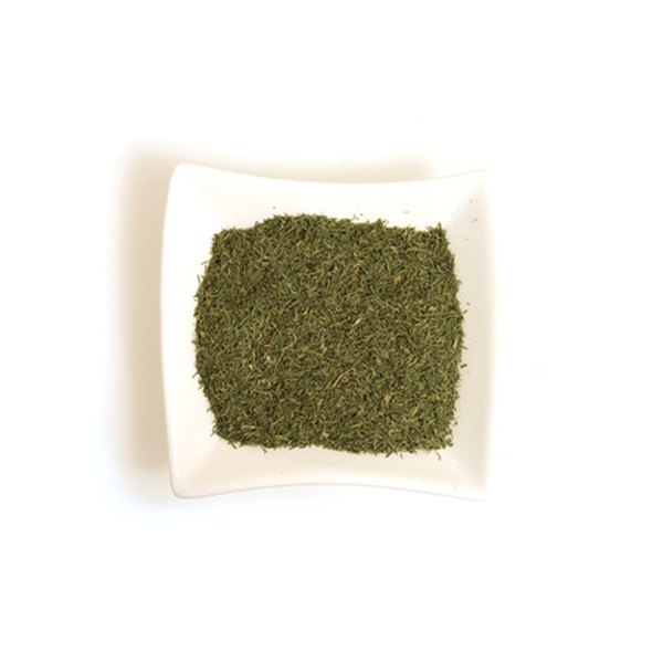 Use a smaller amount of dried herbs than fresh because their flavor has been concentrated.