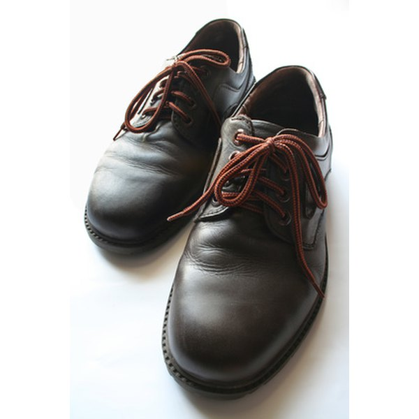 Leather shoes are easy to care for and repair.