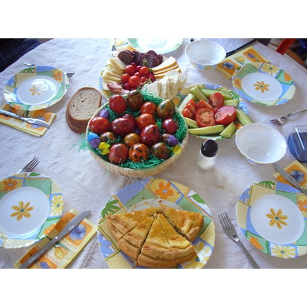 A festive Easter dinner