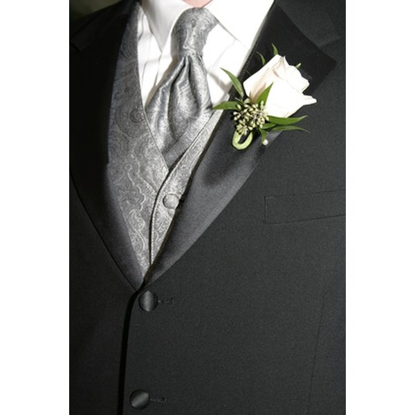 A waistcoat is an important component of men's bridal attire.