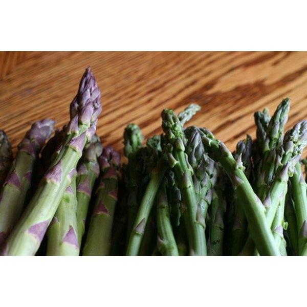 Preparing fresh asparagus takes little time or effort.