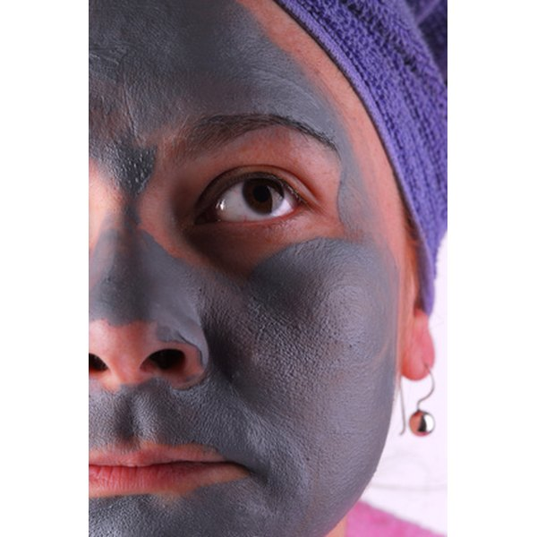 A facial mask helps clean large pores.