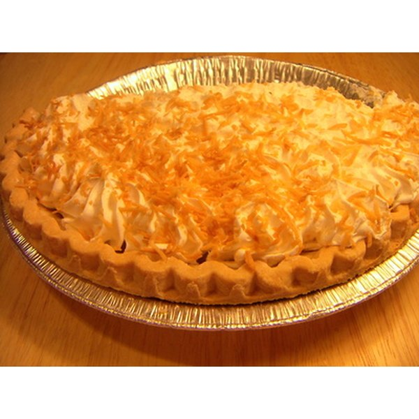 Coconut pie is a rich and creamy dessert.
