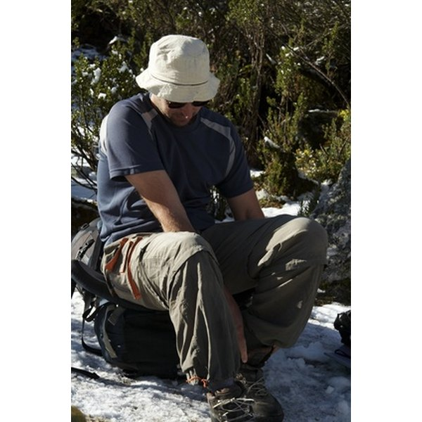 Asolo leather hiking boots are waterproof, and designed for hiking in a variety of conditions.