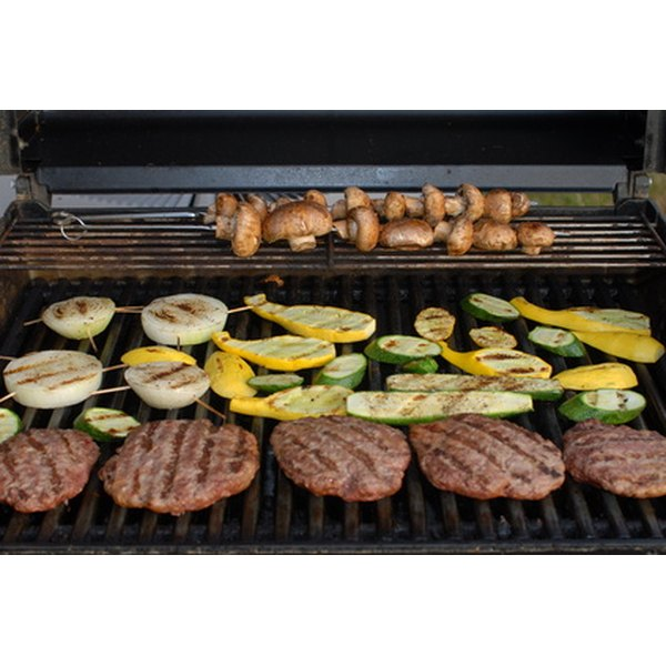 You can cook a variety of different foods on a Brinkmann gas grill.