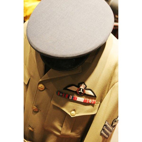 Ribbon bar on a male uniform