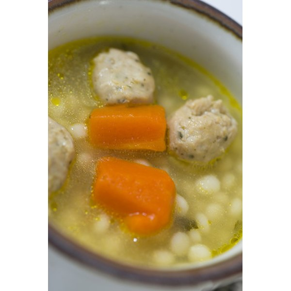 Chicken broth can be seasoned with specific herbs to make it more savory.