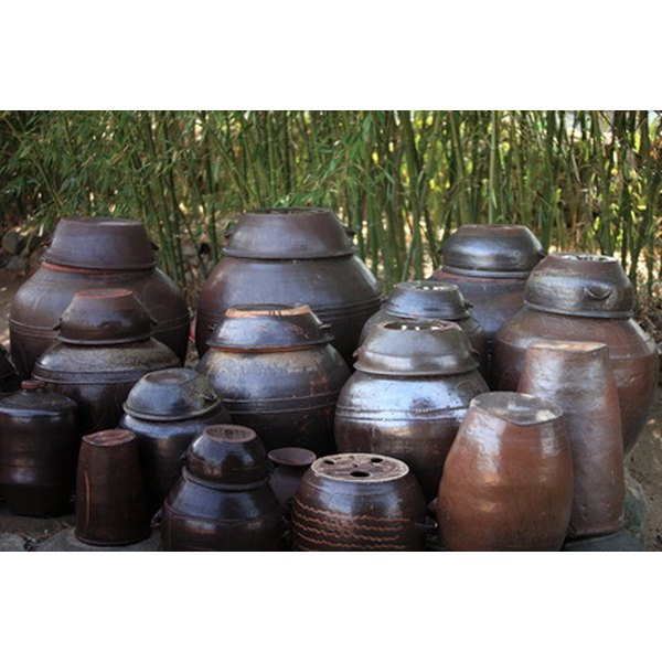 Kimchi was typically stored in clay jars underground. Today, they can be stored in refrigerated glass jars.