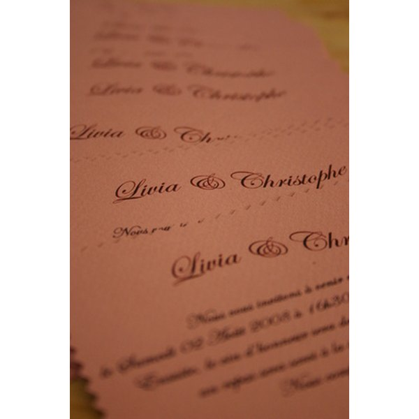 Wedding response cards offer supplemental information to the invitation.
