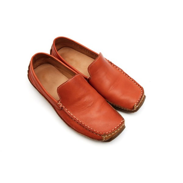 Leather shoes can be repaired from home for a low price.
