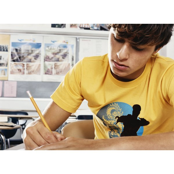 Daily practice can improve your teen's handwriting.
