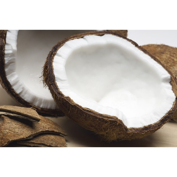 Coconut products are high in saturated fat.