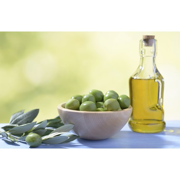 Olive oil, and green olives, are healthy choices.