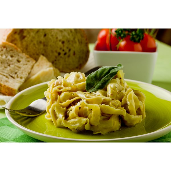 Sage buttter is a sophisticated topping for pasta dishes.
