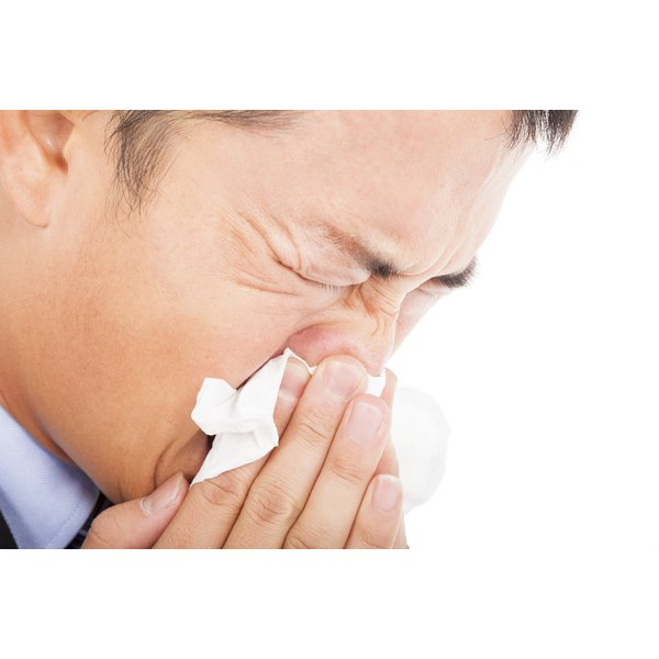 Allergens cause delicate skin under the eyes to swell, but allergy medications can lessen the symptoms.