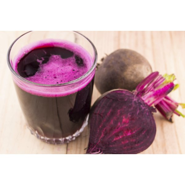 A glass of beet juice.