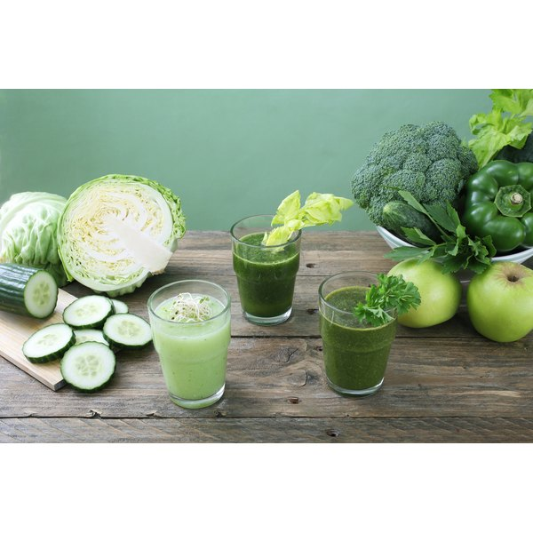 Spinach, parsley and apples help boost energy.