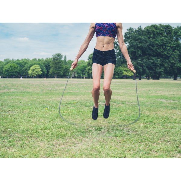 Skipping builds strength and stamina and helps to lose weight.