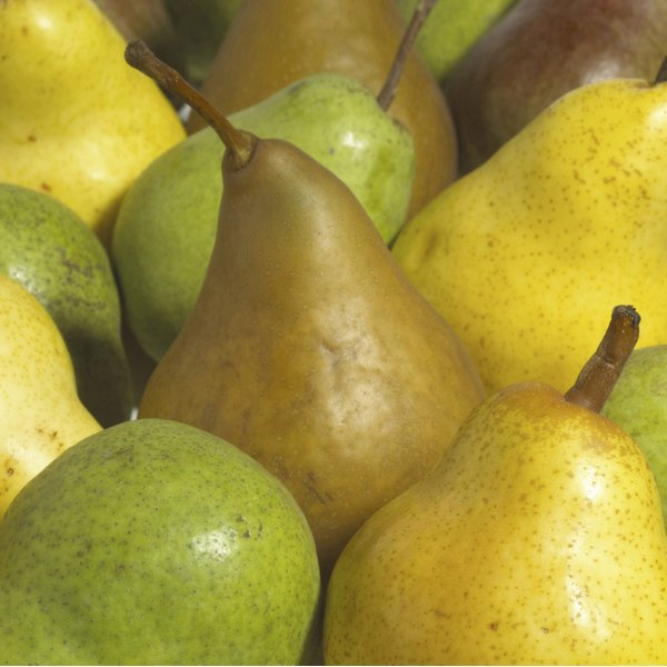 A bunch of pears.