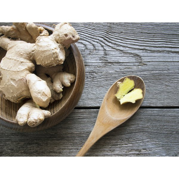 A bowl of ginger root.