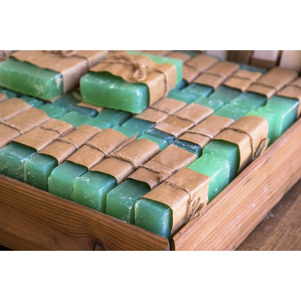 A couple bars of green soap.