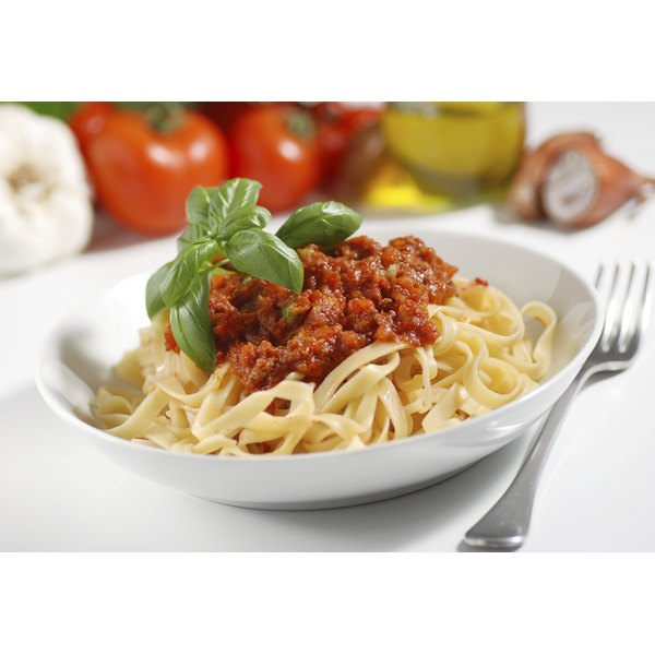 Pasta is a common carbohydrate.